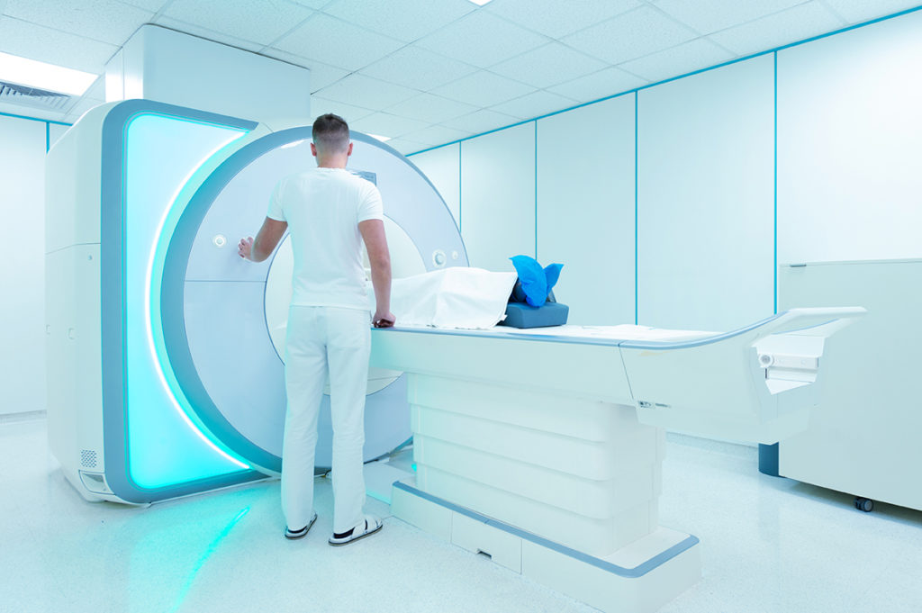 Hearing implant safety: MRI examination in hospital compatible with CI