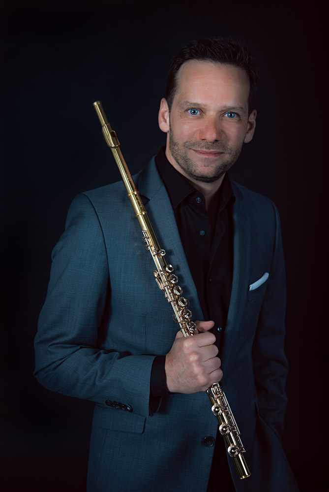 Walter Auer with a flute
